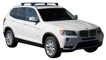 Bagażnik dachowy Whispbar Through BMW X3 (F25) 2010-